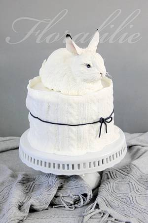 Snow Hare Cake - Cake by Floralilie
