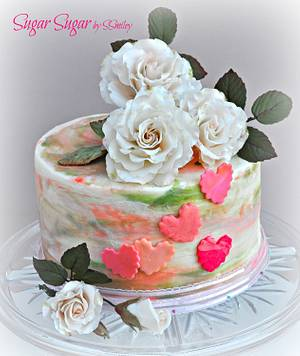 Valentine Cake - Cake by Sandra Smiley