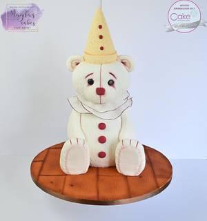 Pierrot Teddy - CI Birmingham 2017 - Cake by Magda's Cakes (Magda Pietkiewicz)