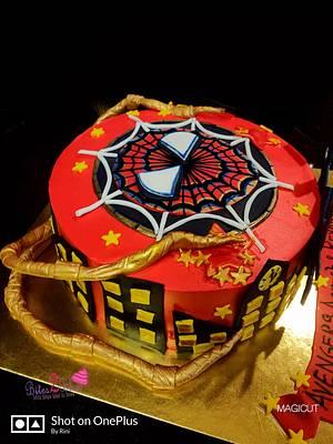 Iron Spider Man cake  - Cake by Bites2Bliss