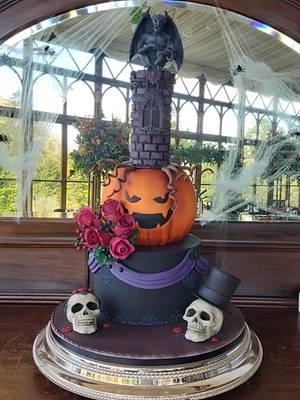 Halloween wedding  - Cake by Caked