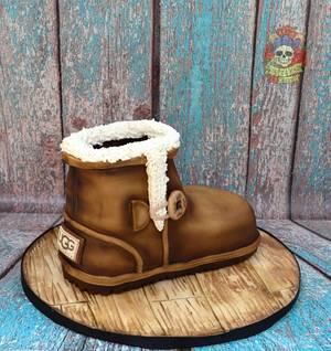 Ugg boot cake!  - Cake by Karen Keaney