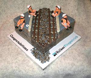 Railway Construction Worker Cake - Cake by Carol Vaughan