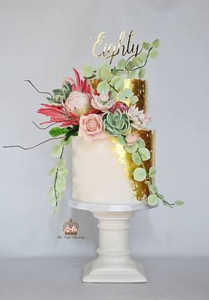 Modern Vintage - Cake by Sumaiya Omar - The Cake Duchess
