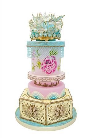 Oriental - Cake by Grazie cake and sugarcraft studio