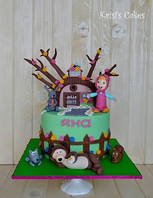 Cake masha and the bear - Cake by KRISICAKES