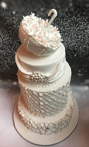 White wedding cake - Cake by NehasBakery