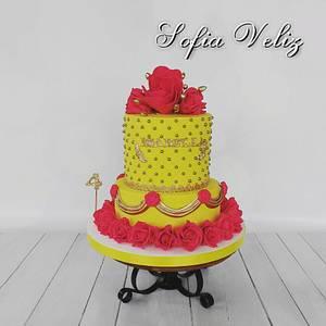La Bella y la Bestia🌷 - Cake by Sofia veliz