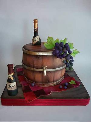 Wine bars and grape - Cake by Milica