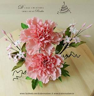 Frill Peony - Cake by D Cake Creations®