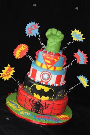 My version of the 'Superhero' cake  - Cake by karenstaylormadecake