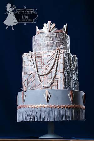 "Art Deco Dragonflies - Cake by ""Cute Cake!"" Lady (Carol Seng)"