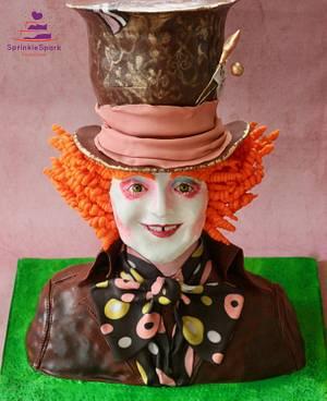 Mad Hatter Alice in Wonderland for Cakeflix collaboration - Cake by SprinkleSpark