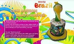 World cup Brazil cake for chairty - Cake by Justine