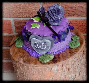 "KAYLAN & DUSTIN'S WEDDING CAKE  - Cake by June (""Clarky's Cakes"")"