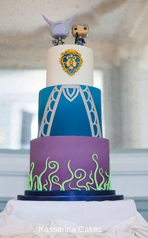 World of Warcraft wedding cake - Cake by Kasserina Cakes