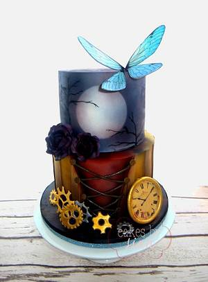 Steampunk and Gothic Birthday Cake - Cake by Cakes by Sian