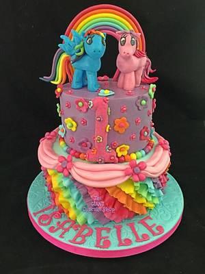 My Little Ponies - Cake by Amelia Rose Cake Studio