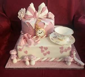 Vintage Alice in Wonderland - Cake by Alessandra Wiliamson