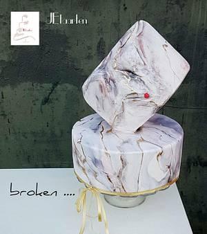 Sweet Art For World Light Day - Broken - Cake by Judith-JEtaarten
