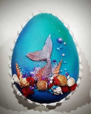 Huevo de Pascua Sirenita - Cake by Marisa Morelli Monfort