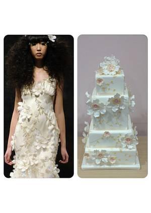 Flower wedding dress inspired cake - Cake by Valeria Antipatico