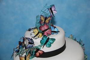 Gymnastics and butterflies - Cake by yael