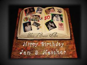 Scrap Book Birthday Cake - Cake by Slice of Sweet Art