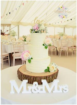 Textured Buttercream Wedding  - Cake by Dollybird Bakes