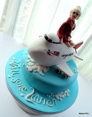 Virgin Airlines Cake - Cake by Rhu Strand