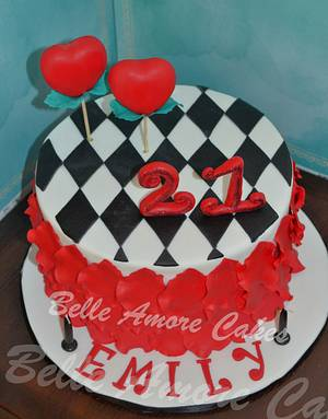 Queen of Hearts - Cake by Belle Amore Cakes