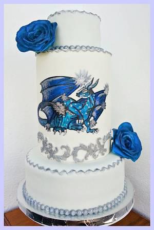 Ice dragon cake - Cake by Princess of Persia