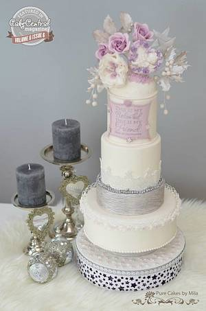 """""""My Beloved - My Friend, A Purple Christmas Wedding''  - Cake by Mila - Pure Cakes by Mila"""