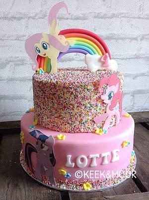 My Little Pony sprinkles cake - Cake by KEEK&MOOR