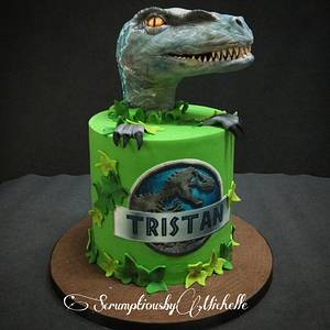 Jurassic World cake with Raptor - Cake by Michelle Chan