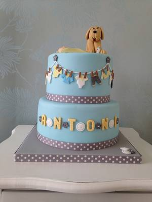 Dog & baby  - Cake by Cake Love