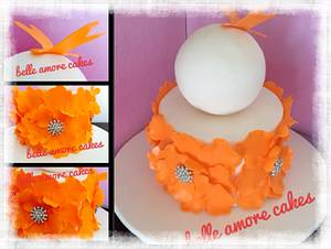 Orange flowers - Cake by Belle Amore Cakes