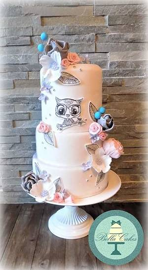Noel the not very Christmassy owl - Cake by Bella Cakes