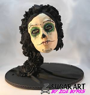 Sugar Skull Bakers Collaboration 2017 - Raven  - Cake by Zoe Byres