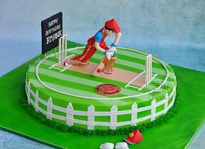 Cricket Cake !!  - Cake by Hima bindu