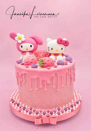 My Melody & Hello Kitty strawberry cake - Cake by Jaanika Leinemann