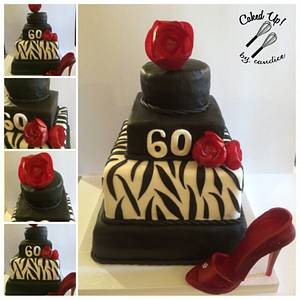 Black and Red Zebra - Cake by CandyGirl24