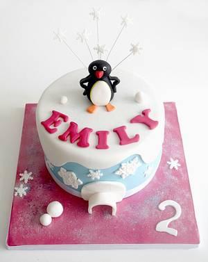 Girly Pingu Cake - Cake by Jen Savaris