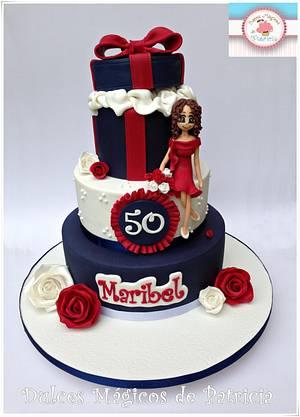 Maribel 50th birthday! - Cake by Dulces Mágicos de Patricia