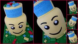 Lego Head Cake - Cake by Veronika