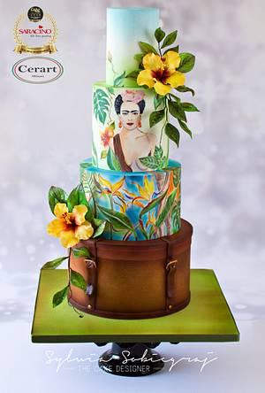 Frida Kahlo Wedding Cake - Cake by Sylwia Sobiegraj The Cake Designer