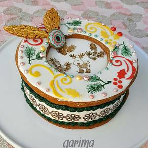 Christmas gift box cookie - Cake by Garima rawat