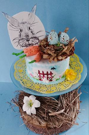 """EASTER IS HARE - Cake by June (""""Clarky's Cakes"""")"""