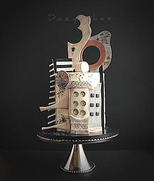Abstract Architectural Cake - Cake by Dozycakes