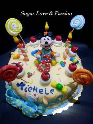 Baby Mickey Candy Cake - Cake by Mary Ciaramella (Sugar Love & Passion)